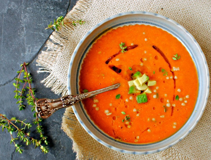 intense roast tomato soup