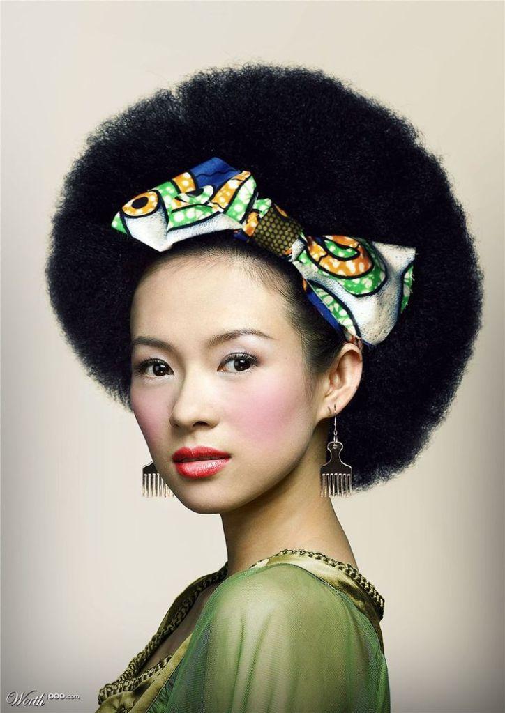 Ziyi Zhang Oriental Afro Hair. El pelo afro traspasa fronterasw