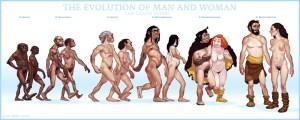 evolving-evolution hombre y mujer